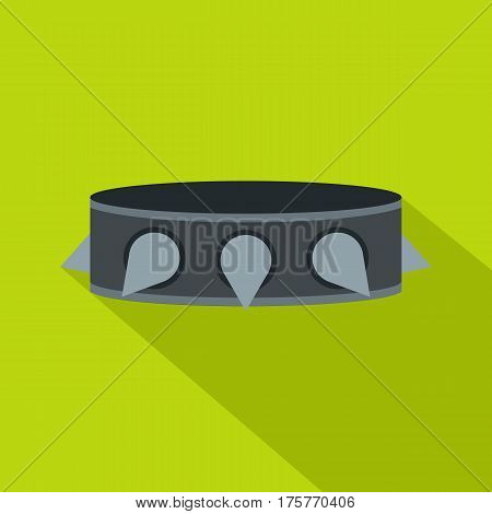Rock collar icon. Flat illustration of rock collar vector icon for web