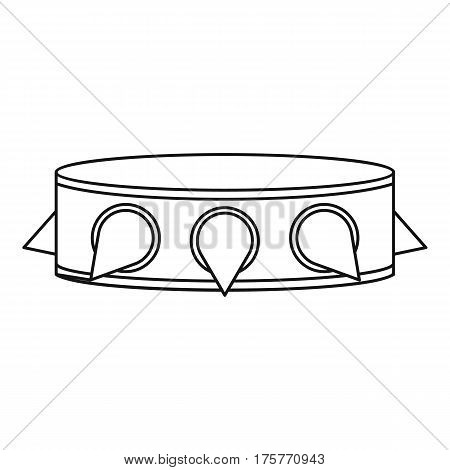 Rock collar icon. Outline illustration of rock collar vector icon for web
