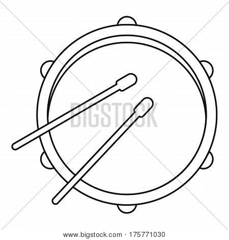 Drum icon. Outline illustration of drum vector icon for web