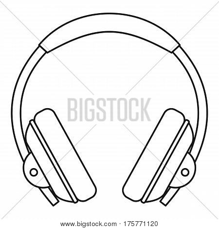 Headphone icon. Outline illustration of headphone vector icon for web