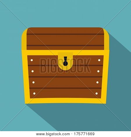 Chest icon. Flat illustration of chest vector icon for web