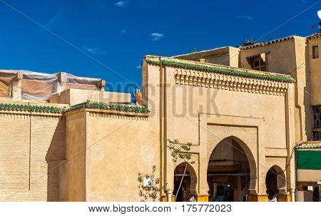 Gate on Rcif Square in Medina of Fes, Morocco