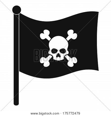 Pirate flag icon. Simple illustration of pirate flag vector icon for web