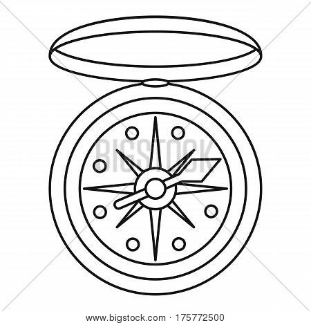 Compass icon. Outline illustration of compass vector icon for web