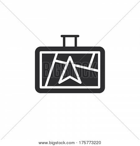 GPS navigator icon vector filled flat sign solid pictogram isolated on white. Symbol logo illustration