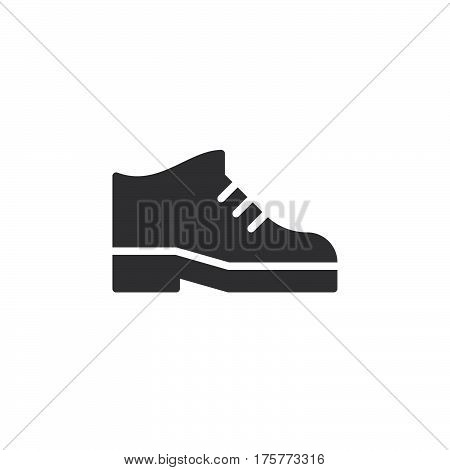 Boots icon vector filled flat sign solid pictogram isolated on white. Mens shoes footwear symbol logo illustration