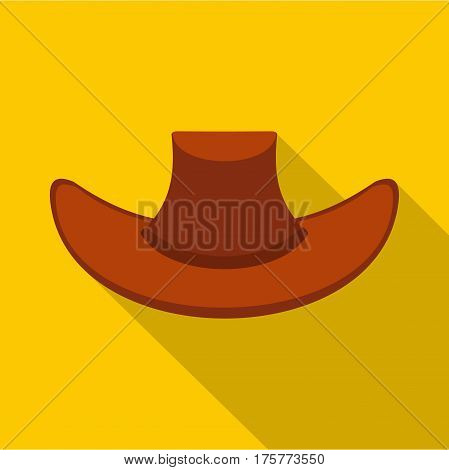 Cowboy hat icon. Flat illustration of cowboy hat vector icon for web