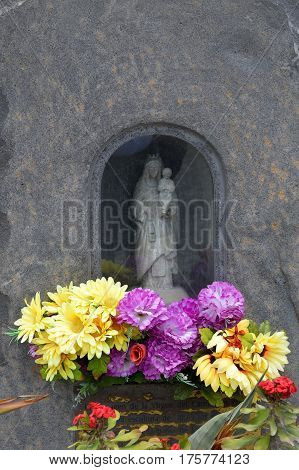 Christian memorial in memory of a loved one