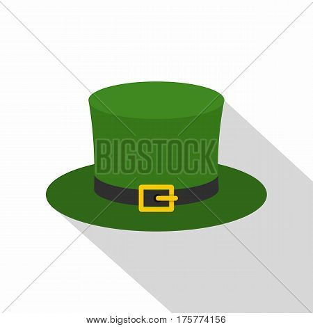 Leprechaun hat icon. Flat illustration of leprechaun hat vector icon for web