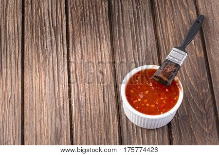 Barbecue Sauce With Basting Brush