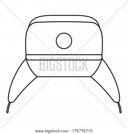 Earflap hat icon. Outline illustration of earflap hat vector icon for web