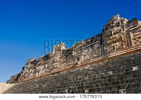 Ruins Of Uxmal - Ancient Maya City. Yucatan.  Mexico