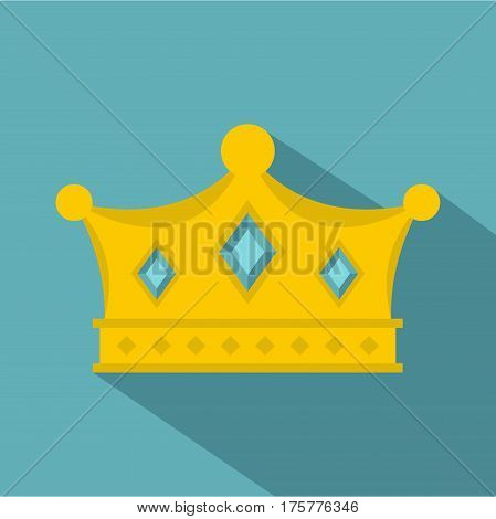 Prince crown icon. Flat illustration of prince crown vector icon for web