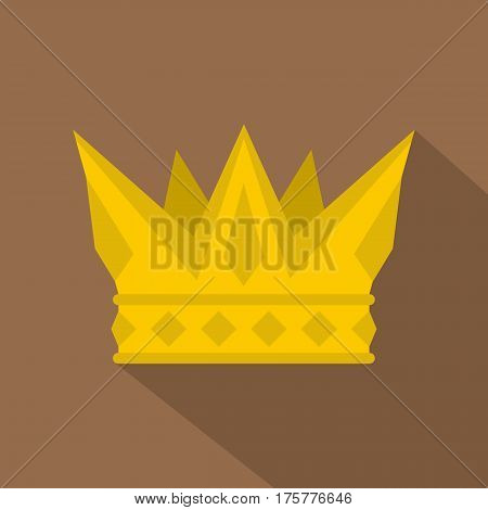 Cog crown icon. Flat illustration of cog crown vector icon for web