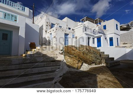 Architecture in Chora of Serifos island in Greece.