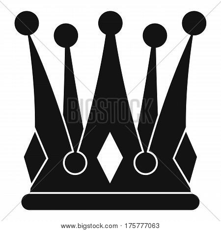 Kingly crown icon. Simple illustration of kingly crown vector icon for web