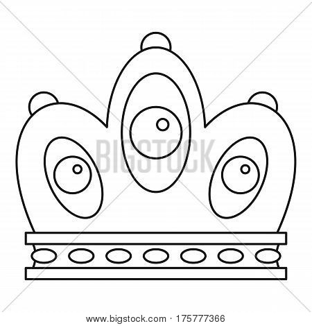 Queen crown icon. Outline illustration of queen crown vector icon for web