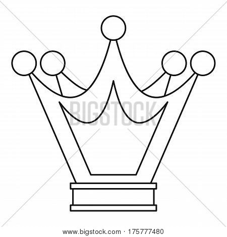 Princess crown icon. Outline illustration of princess crown vector icon for web