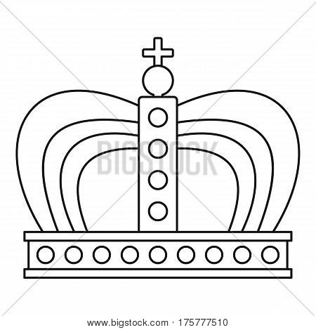 Monarchy crown icon. Outline illustration of monarchy crown vector icon for web