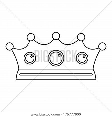 Jewelry crown icon. Outline illustration of jewelry crown vector icon for web