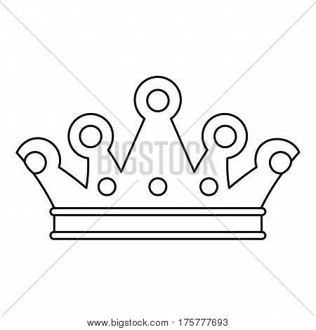 Royal crown icon. Outline illustration of royal crown vector icon for web