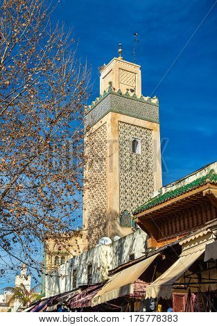 Minaret in Fes Jdid, one of the three parts of Fes - Morocco
