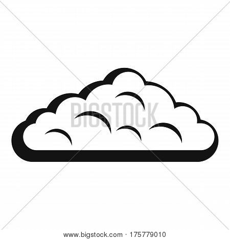 Wet cloud icon. Simple illustration of wet cloud vector icon for web