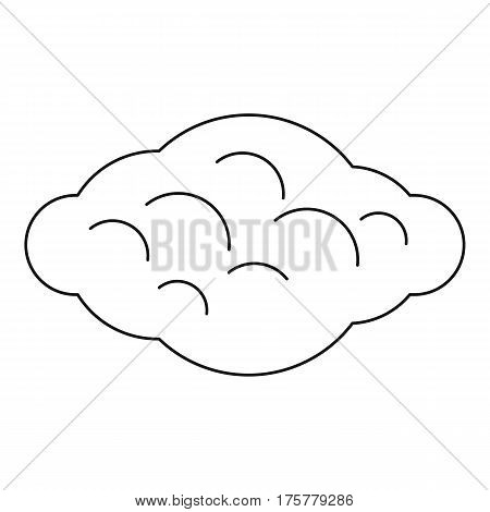Curly cloud icon. Outline illustration of curly cloud vector icon for web