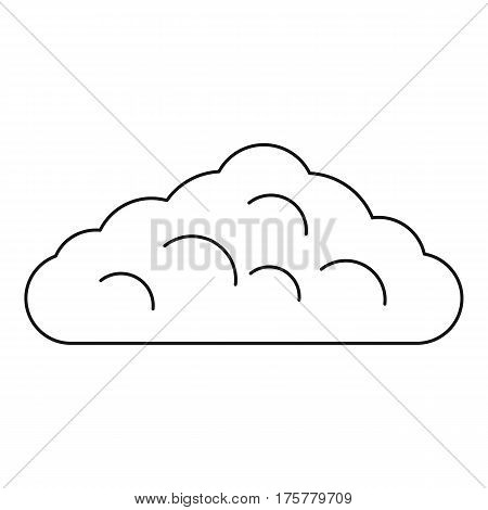 Wet cloud icon. Outline illustration of wet cloud vector icon for web