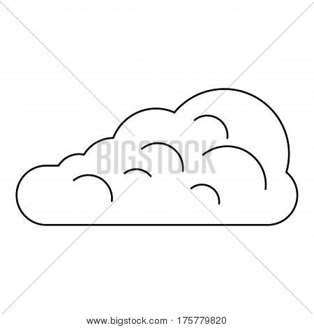 Cumulus cloud icon. Outline illustration of cumulus cloud vector icon for web