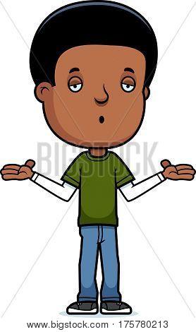 Teen Boy Shrug