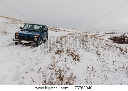 Winter Car In Snow
