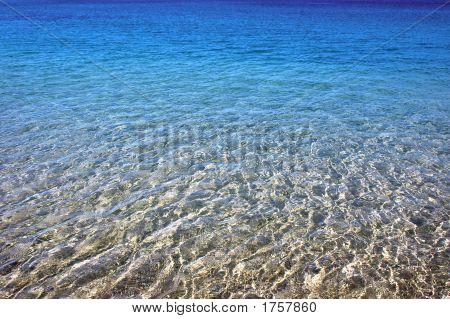Blue Sea In Beach