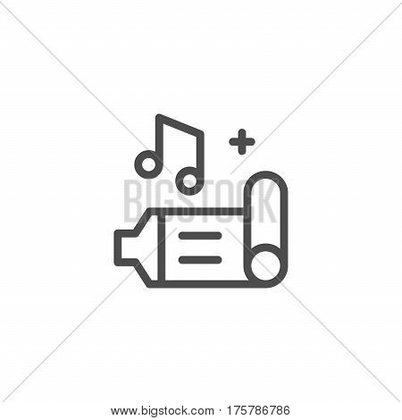 Birthday whistle line icon isolated on white. Vector illustration