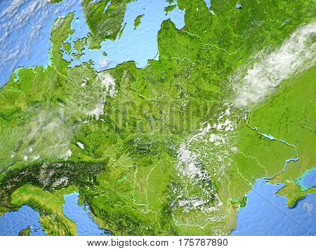 Eastern Europe On Planet Earth