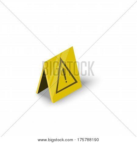 Wet floor icon. Isometric illustration of wet floor vector icon for web