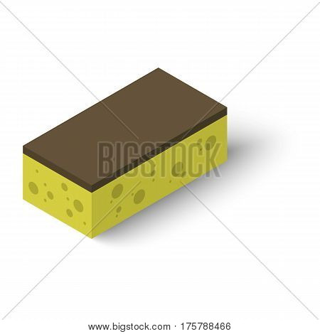 Sponge icon. Isometric illustration of sponge vector icon for web