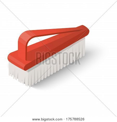Broom icon. Isometric illustration of broom vector icon for web