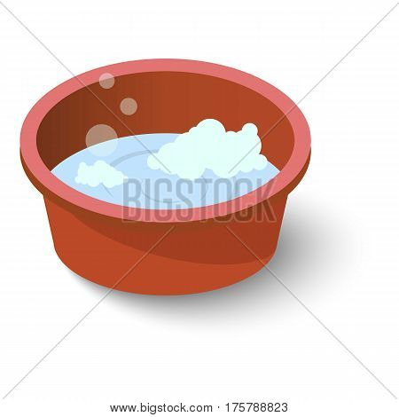 Water basin icon. Isometric illustration of water basin vector icon for web