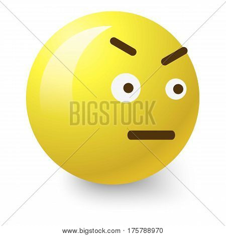 Angry smiley icon. Cartoon illustration of angry smiley vector icon for web