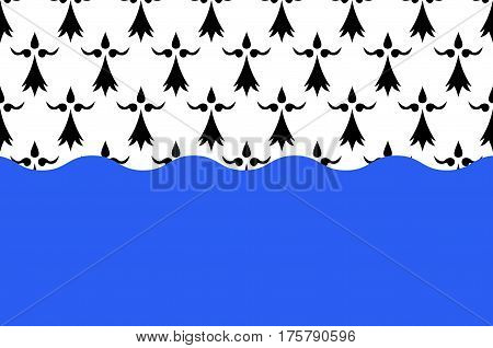 Flag of Morbihan is a department in Brittany situated in the northwest of France. Vector illustration