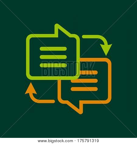 Writing translation icon. Outline illustration of writing translation vector icon for web