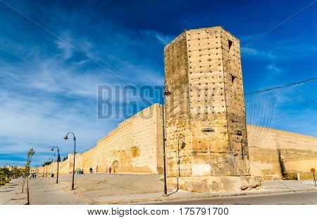 Bab Segma, a tower at the city walls of Fes in Morocco
