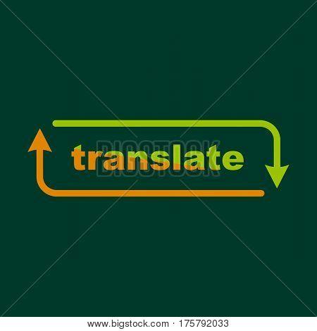 Translation icon. Outline illustration of translation vector icon for web