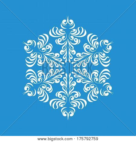 Melting snowflake icon. Simple illustration of melting snowflake vector icon for web
