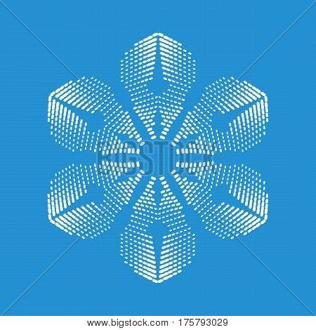 Brittle snowflake icon. Simple illustration of brittle snowflake vector icon for web