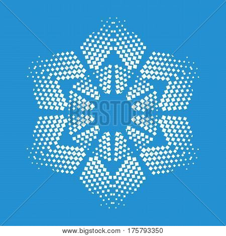 Figurate snowflake icon. Simple illustration of figurate snowflake vector icon for web