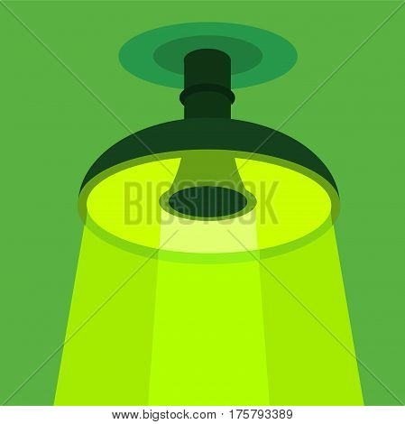 Ceiling lamp icon. Flat illustration of ceiling lamp vector icon for web