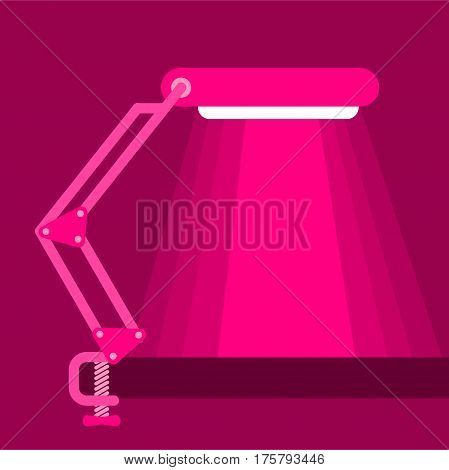 Big table lamp icon. Flat illustration of big table lamp vector icon for web