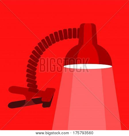 Small table lamp icon. Flat illustration of small table lamp vector icon for web